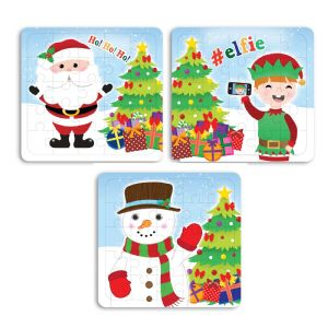 Christmas 25 Piece Mini Jigsaw Puzzle - Boys Girls Unisex Party Bag Fillers